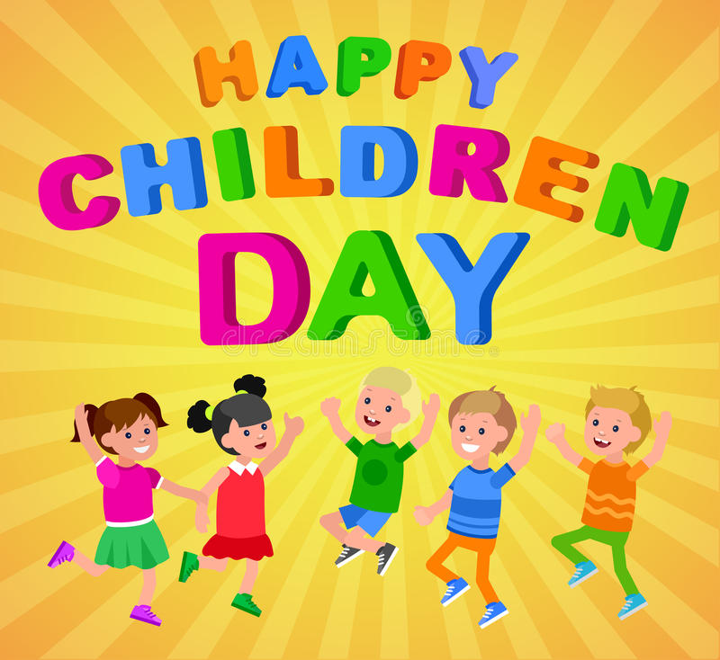 День счастливых детей иллюстрация штока