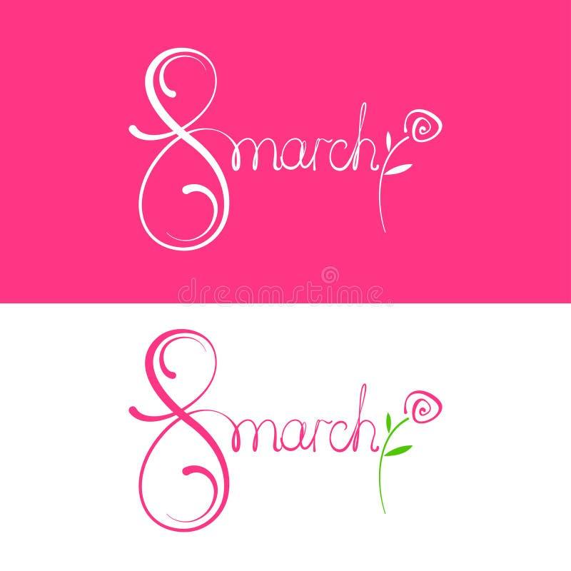 День счастливых женщин вектора 8-ое марта иллюстрация штока