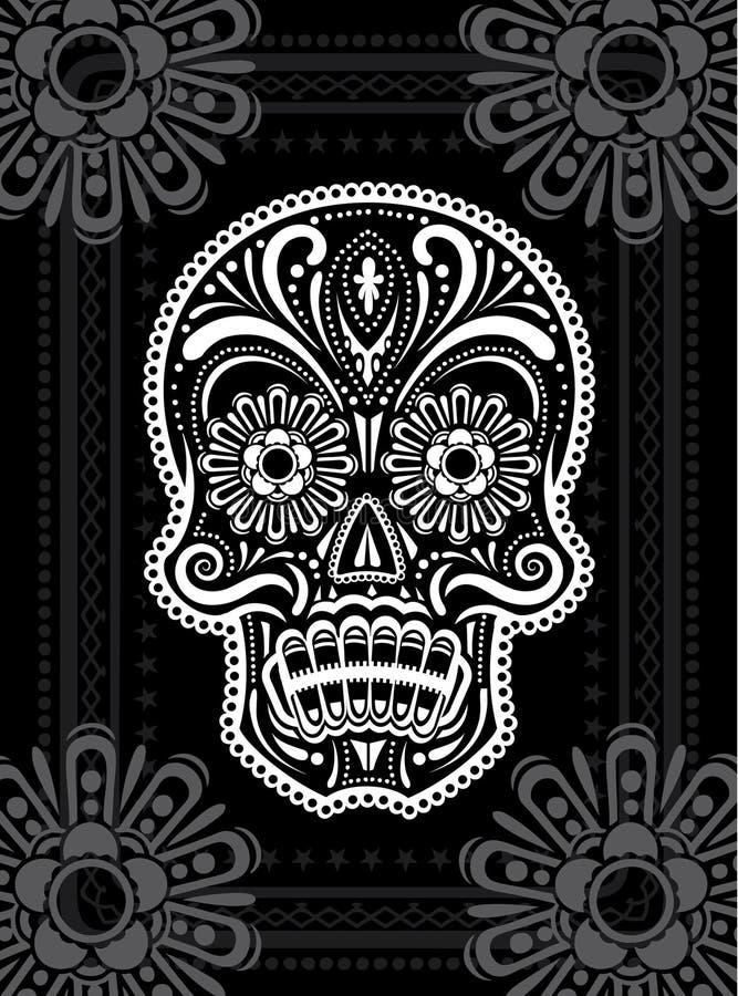 День мертвого черепа сахара иллюстрация вектора
