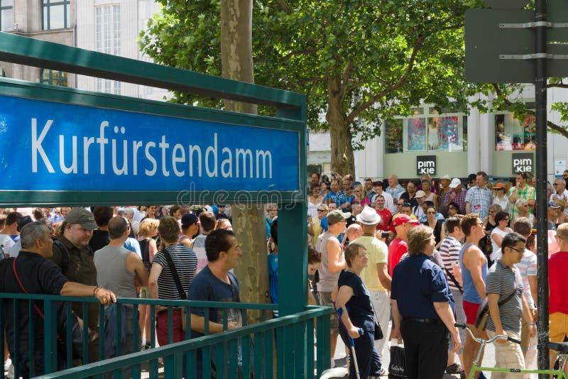 День улицы Кристофера в Берлине Германия стоковое фото rf