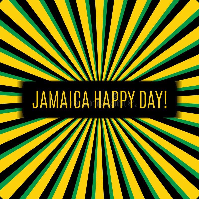 День ямайки счастливый! Поздравительная открытка бесплатная иллюстрация