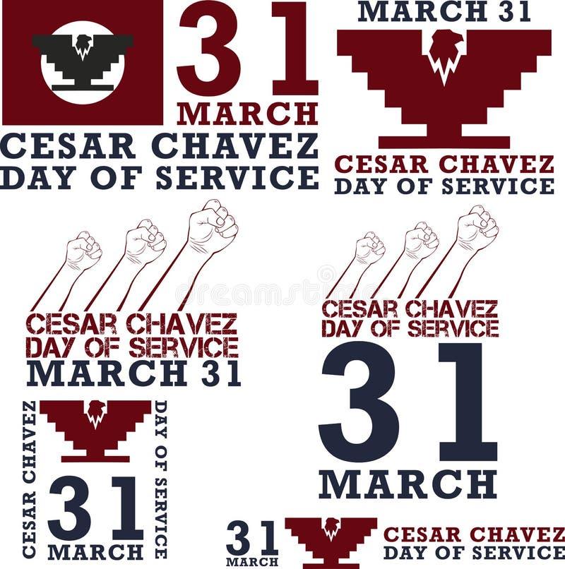 День Cesar Chavez иллюстрация штока