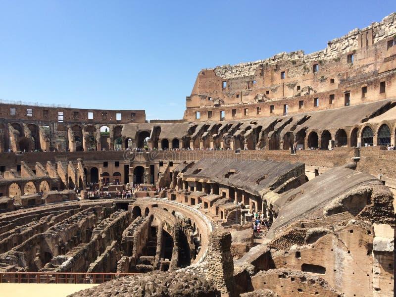 День Colosseum Рима солнечный стоковое изображение