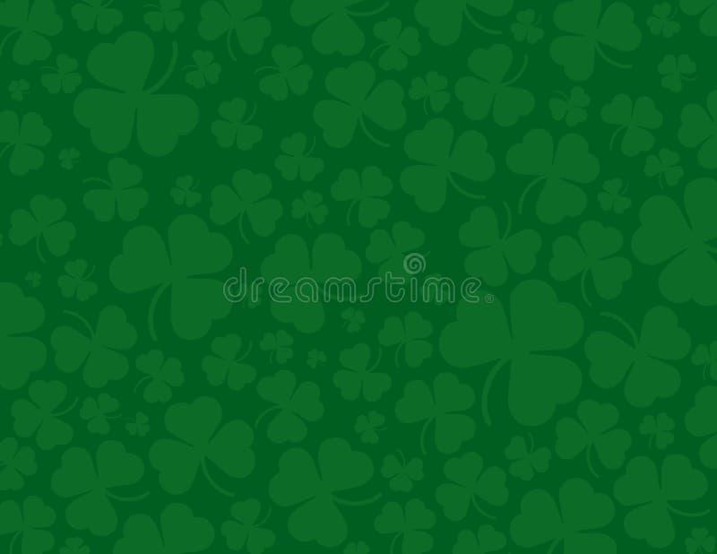 День St. Patrick, предпосылка клевера иллюстрация вектора