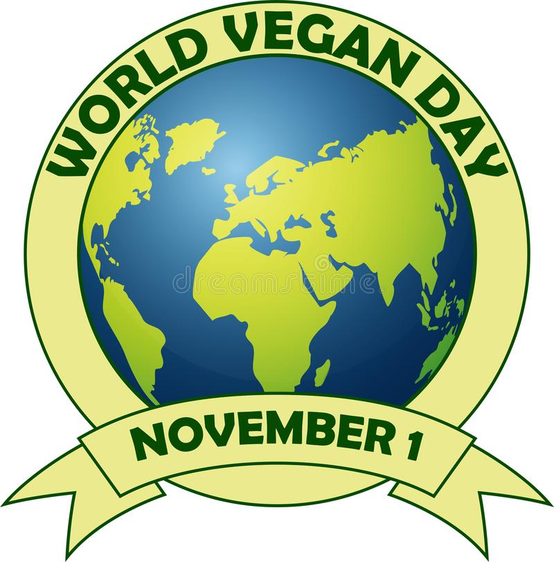 День vegan мира иллюстрация вектора