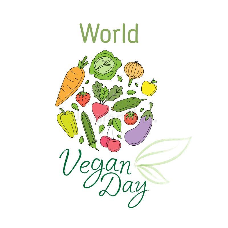 День vegan мира бесплатная иллюстрация