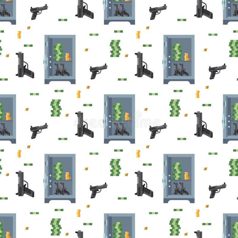 Депозита предохранения от наличных денег коробки дела безопасности концепции дела финансов двери свода денег картина безопасного  бесплатная иллюстрация