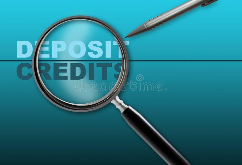 Депозит - кредиты бесплатная иллюстрация