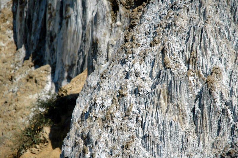 Депозит соли, осадочноэффузивные геологохимические слои стоковое фото rf