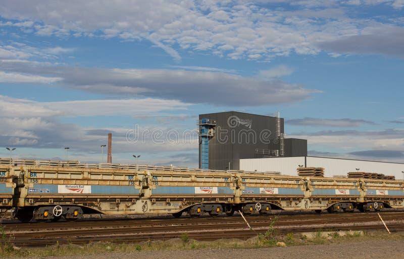 Депо железнодорожной инфраструктуры сети стоковое изображение