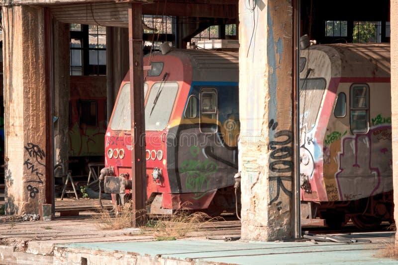 Депо поезда стоковое фото rf