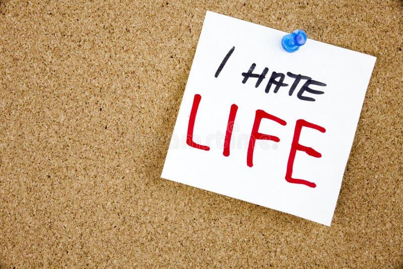 Депрессия и суицидальные мысли прикалыванные к доске объявлений пробочки заметьте липкое умственно стоковая фотография rf