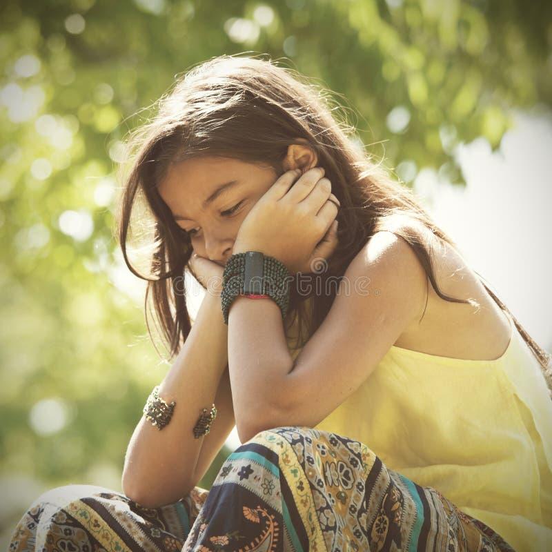 Депрессия маленького ребенка стоковое фото