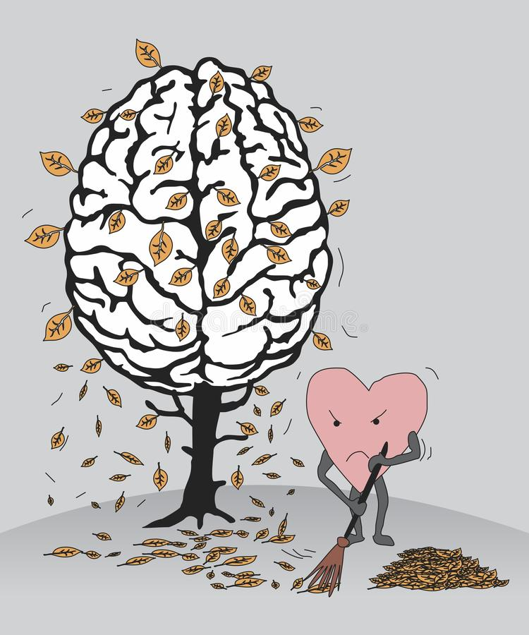 Депрессия осени иллюстрация штока