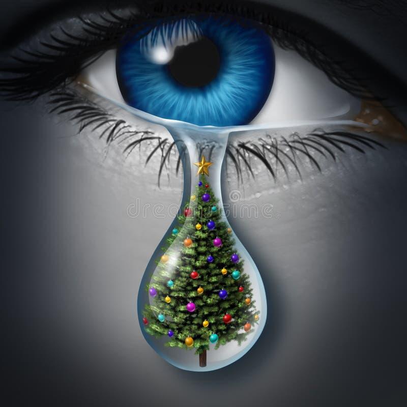 Депрессия праздника иллюстрация вектора