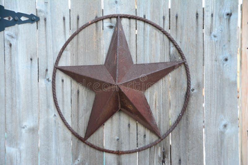 Деревенская звезда Техаса стоковые фото
