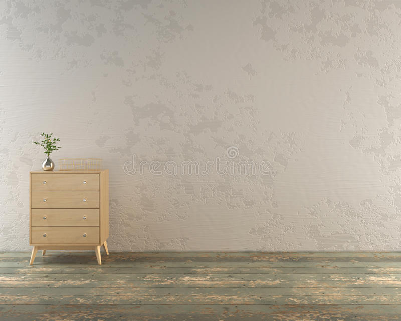 Деревенская комната с современным дрессером стоковое изображение