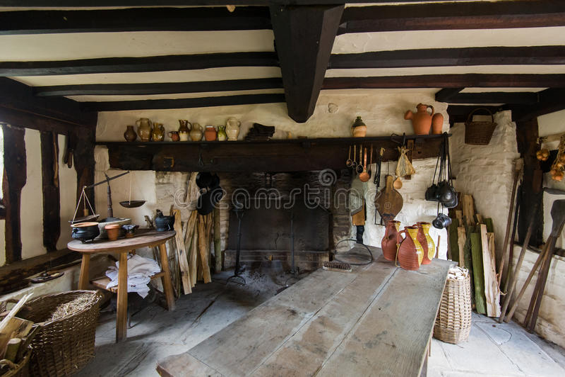 Деревенская кухня стоковое фото rf
