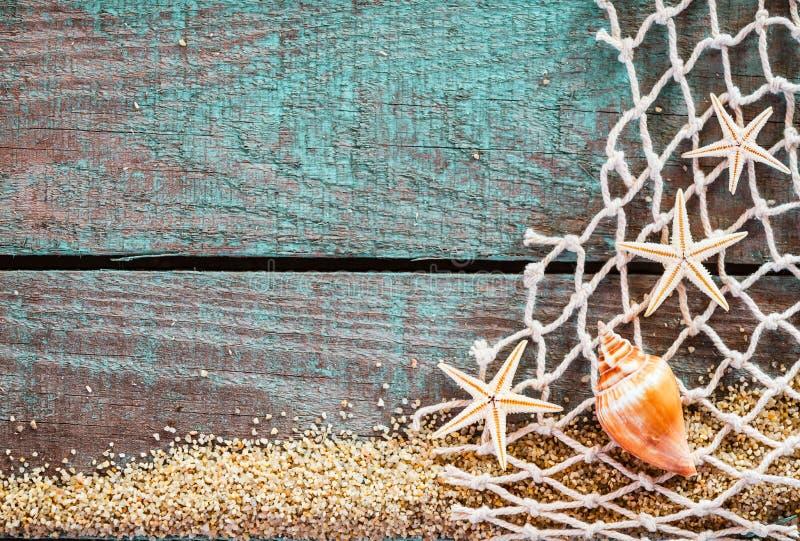 Деревенская морская предпосылка с copyspace стоковые изображения
