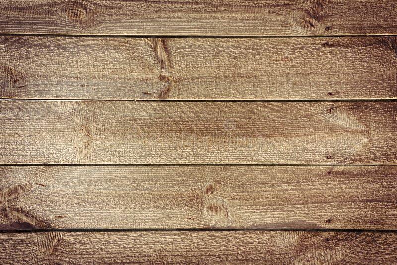 Деревенская предпосылка таблицы от горизонтальных деревянных доск с ногтями стоковое изображение rf