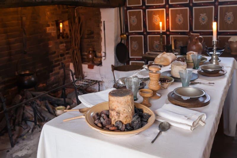 Деревенская таблица завтрака стоковое изображение rf
