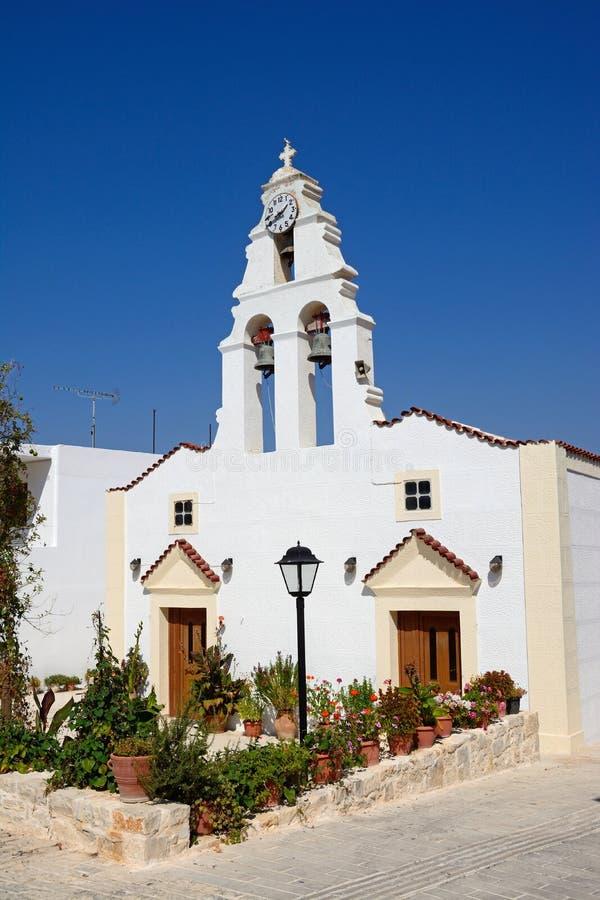Деревенская церковь Margarites, Крит стоковая фотография