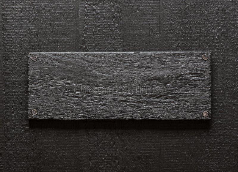 Деревенская черная деревянная предпосылка стоковое фото