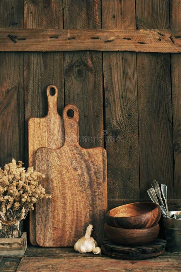 Деревенские утвари кухни стоковое изображение