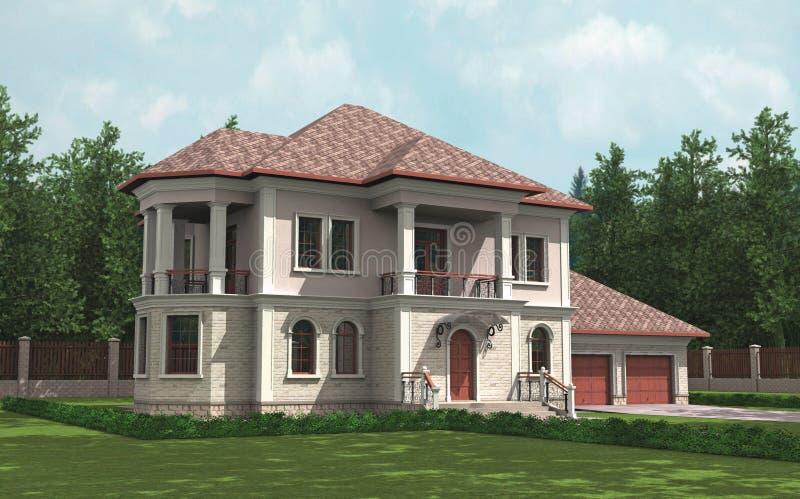 деревенский дом иллюстрация штока