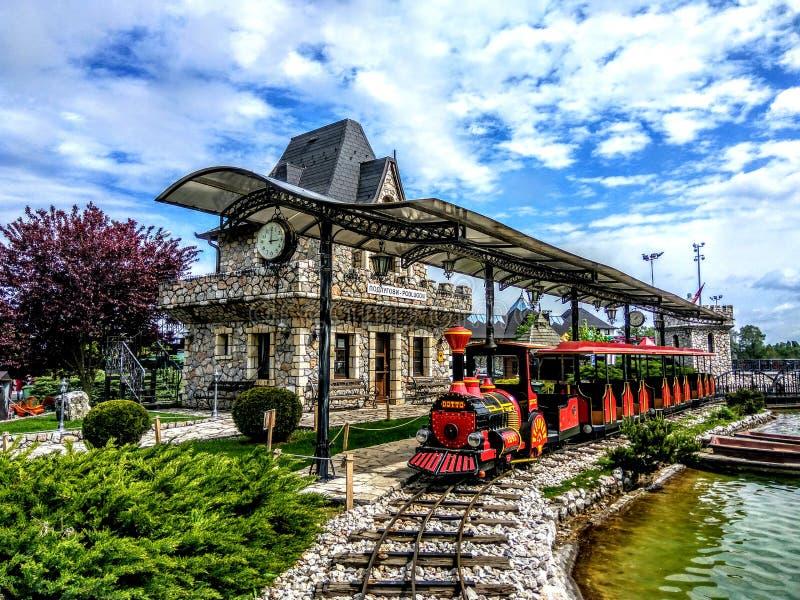 Деревенский поезд стоковые фото
