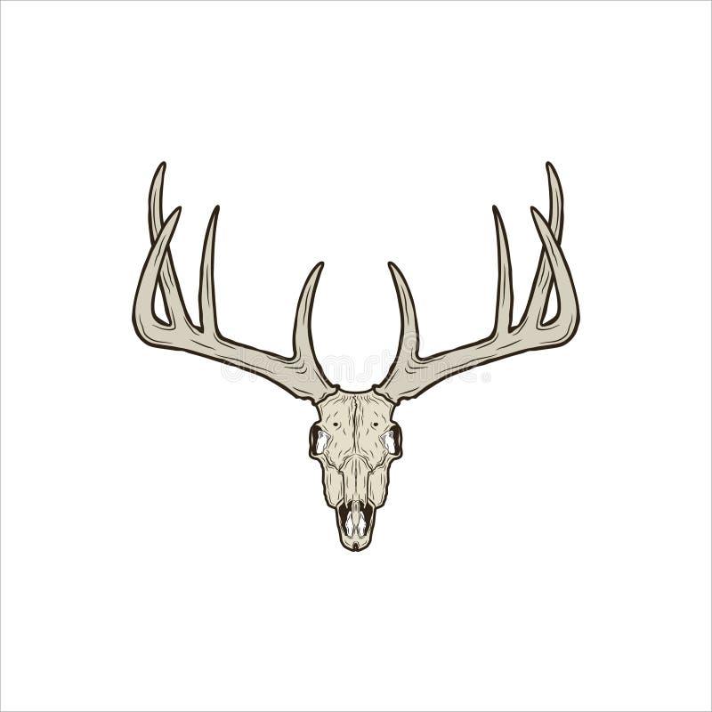 Деревенский череп оленей бесплатная иллюстрация