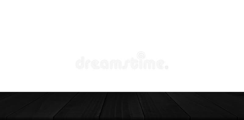 Деревенский черный деревянный дисплей продукта планки стоковые изображения