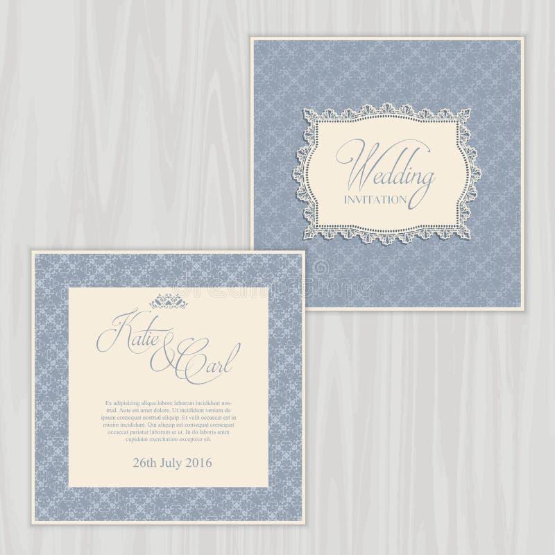 Деревенское приглашение свадьбы иллюстрация штока