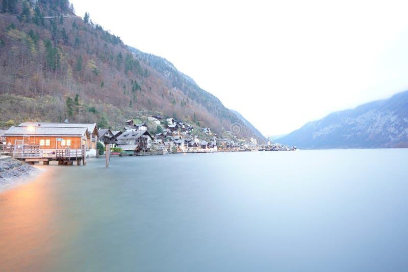 Деревня Австрия Hallstatt стоковая фотография rf