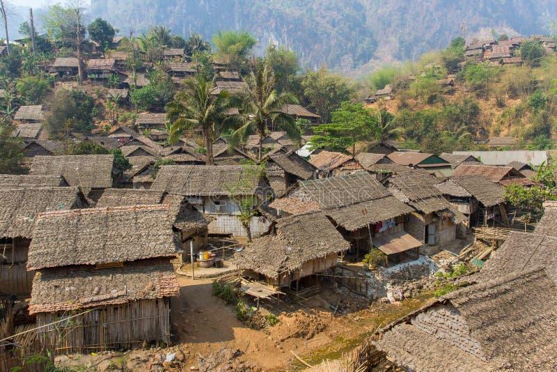 Деревня беженцев стоковое фото rf
