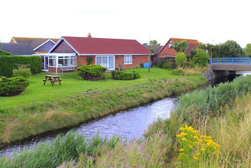 Деревня Великобритания Dymchurch болота Romney стоковая фотография