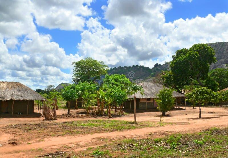 Деревня в горах. Фантастично красивый ландшафт. стоковое изображение