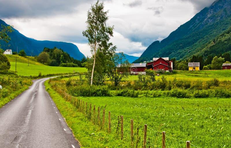 Деревня в Норвегии стоковые изображения