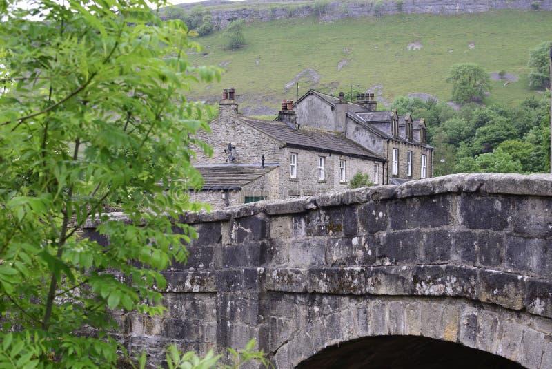 Деревня в участках земли Йоркшира стоковая фотография rf