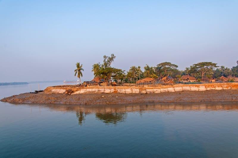 Деревня в Sundarban стоковое изображение
