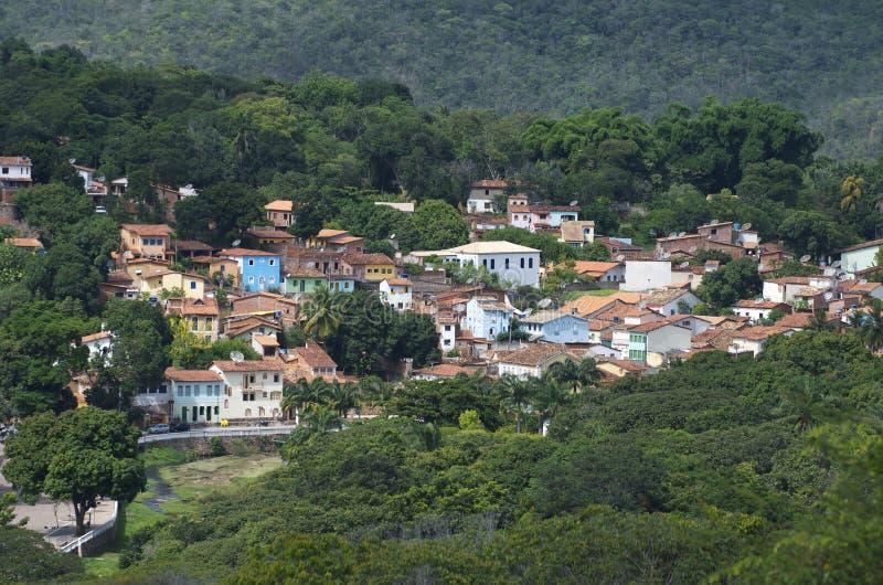 Деревня горного склона Lencois Бахи Бразилии стоковые изображения rf