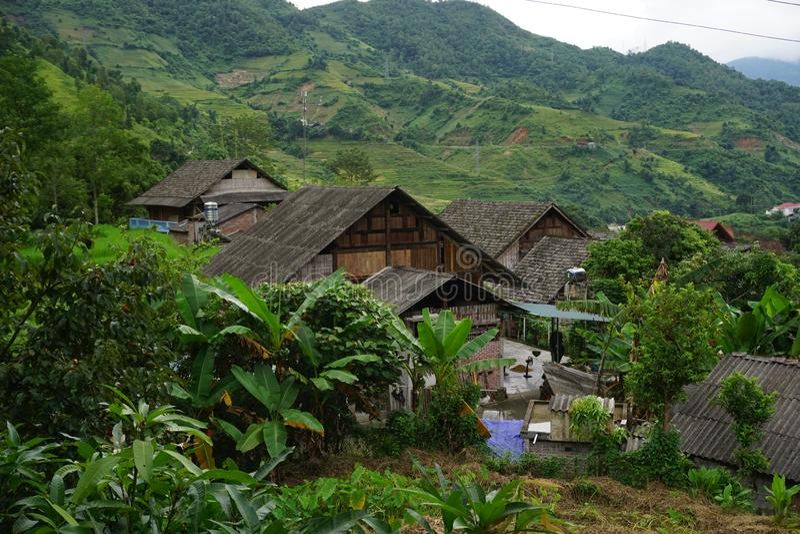 Деревня запрета Ho в районе Sapa, северо-западном Вьетнаме стоковые фотографии rf