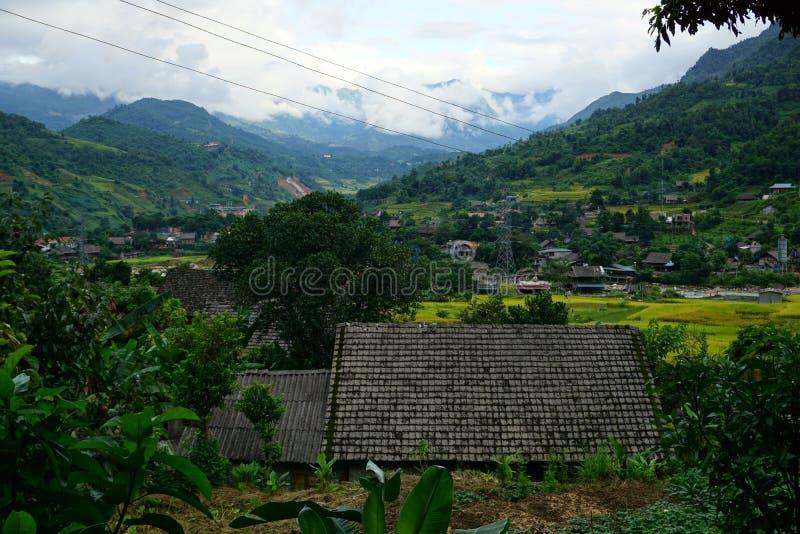 Деревня запрета Ho в районе Sapa, северо-западном Вьетнаме стоковое изображение