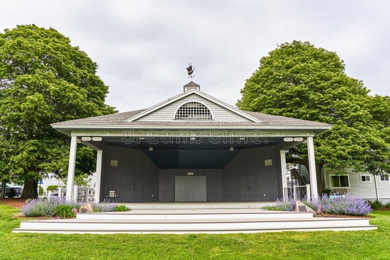 Деревня Зеленый Бандстен является частью культурного района Хайарт стоковая фотография rf