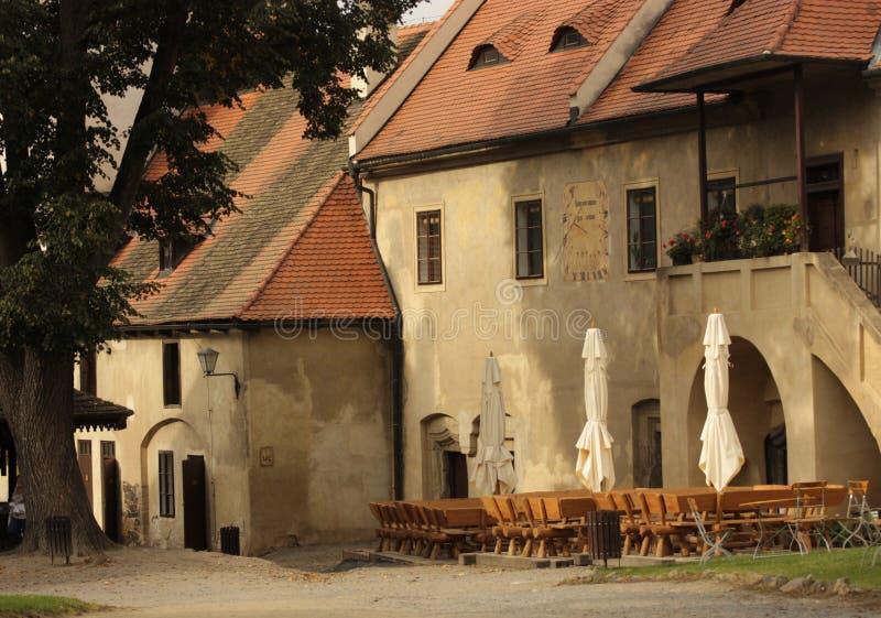 Деревня здания Европы стоковые изображения
