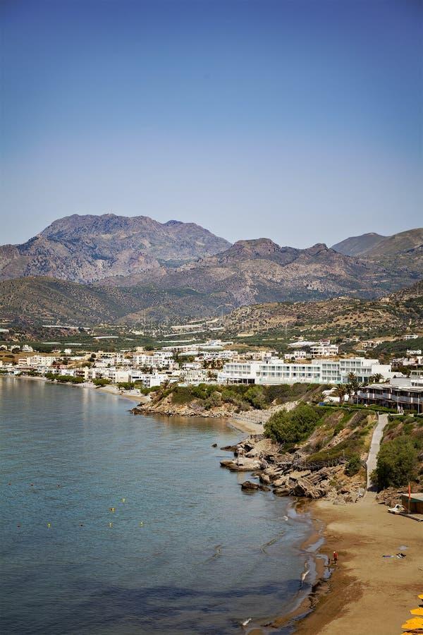 Деревня курорта Крита стоковая фотография