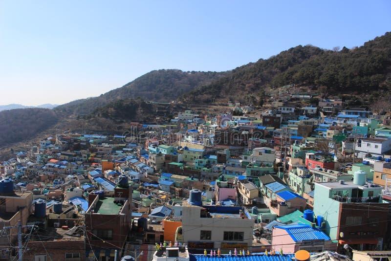 Деревня культуры Gamcheon стоковое изображение rf