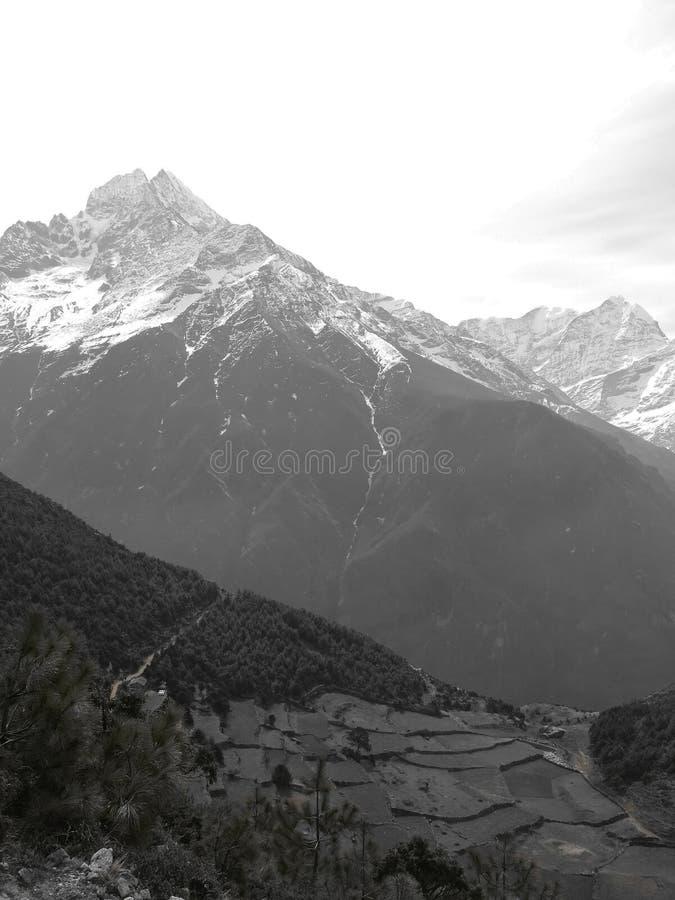 Деревня на Непале стоковые изображения rf