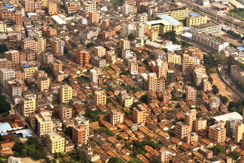 Деревня пригорода города Гуанчжоу стоковые изображения rf