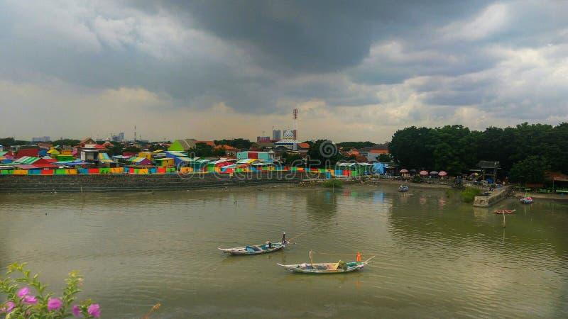 Деревня рыболова стоковая фотография rf